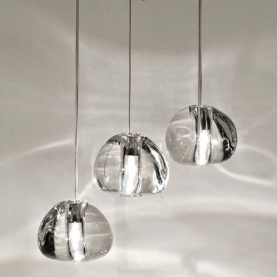 Mizu 3 Light Pendant - Clear