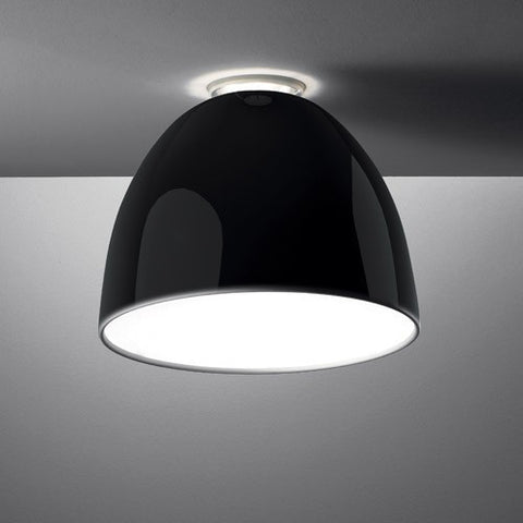 Nur Gloss LED Ceiling Light - Black Gloss