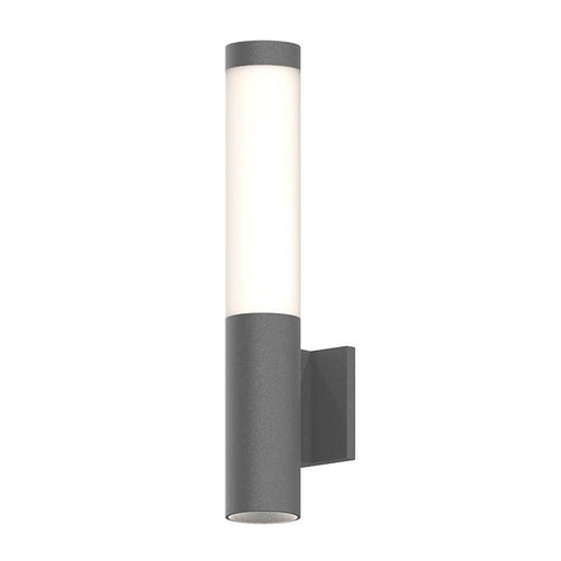 Round Column LED Sconce - Gray