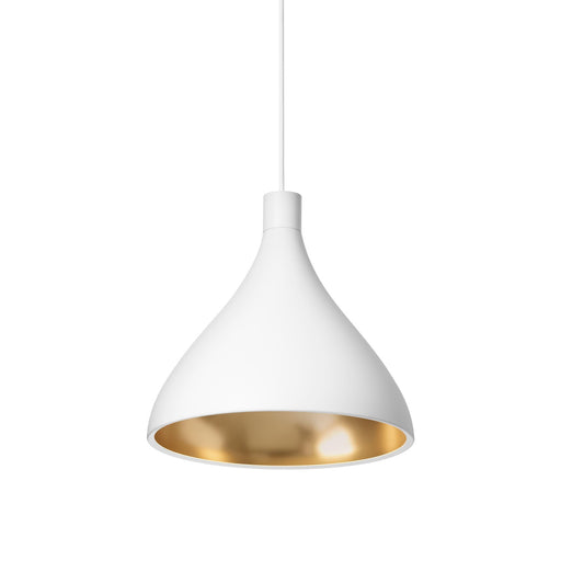 Swell Medium Pendant - White