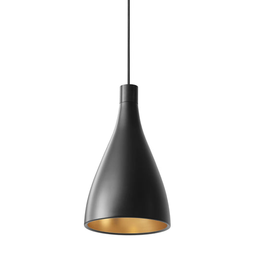 Swell Narrow Pendant Light - Black