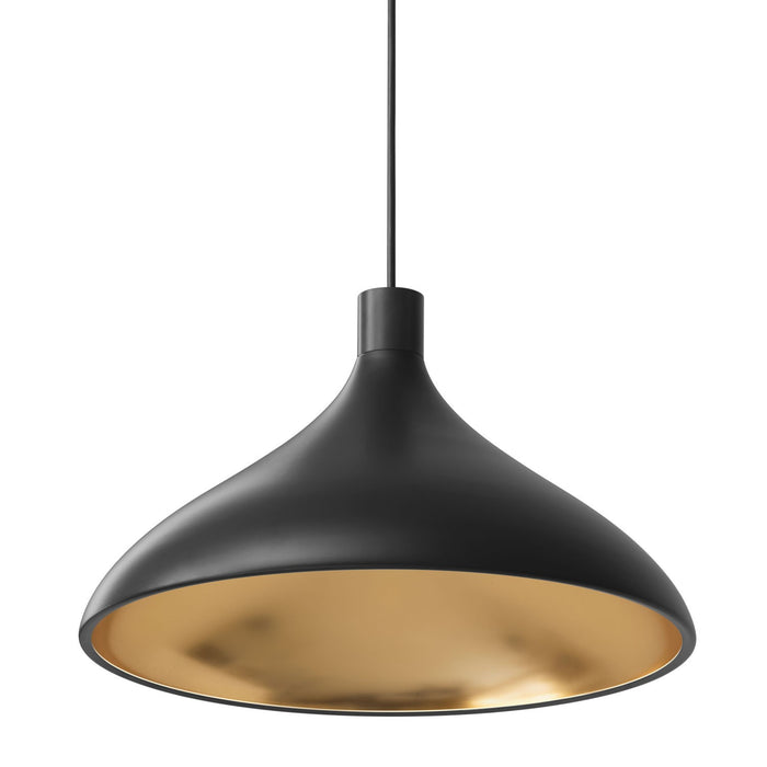Swell Wide Pendant - Black