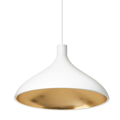 Swell Wide Pendant - White