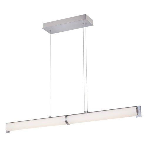 Tube LED Linear Suspension - Brushed Nickel Finish