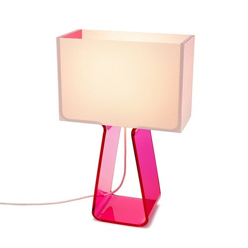 Tube Top Table Lamp - Pink
