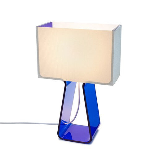 Tube Top Table Lamp - Blue