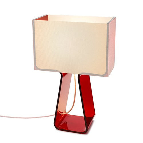 Tube Top Table Lamp - Red