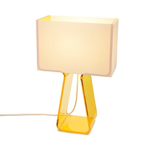 Tube Top Table Lamp - Yellow