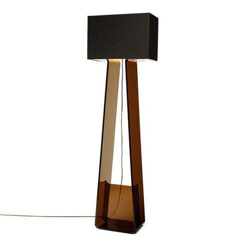Tube Top Floor Lamp - Charcoal/Charcoal