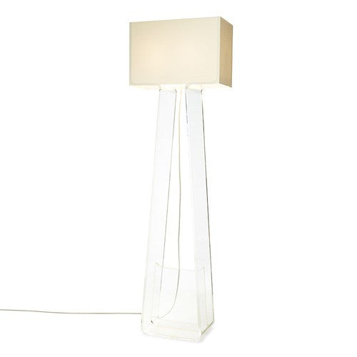 Tube Top Floor Lamp - White/Clear