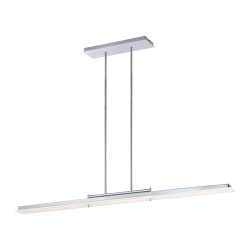 Twist and Shout LED Linear Suspension - Chrome Finish