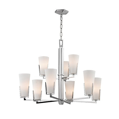 Upton 9 Light Chandelier - Polished Nickel