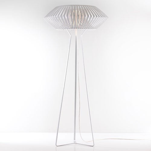 V Floor Lamp - White