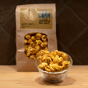 CARAMEL CORN • CARAMEL + SEA SALT