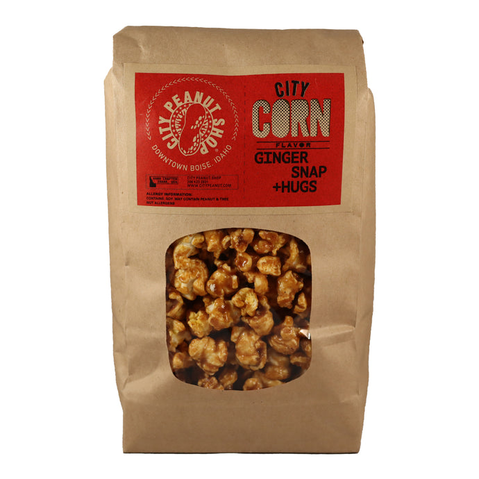 CARAMEL CORN • GINGER SNAP + HUGS