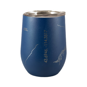 SUN VALLEY, IDAHO MAP • THERMAL WINE TUMBLER • BLUE