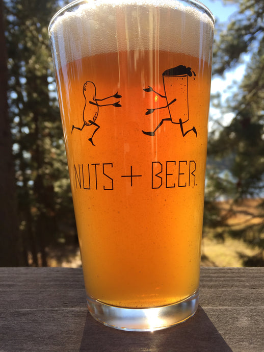 NUTS+BEER PINT GLASSES  TWO-PACK WINDOW BOX