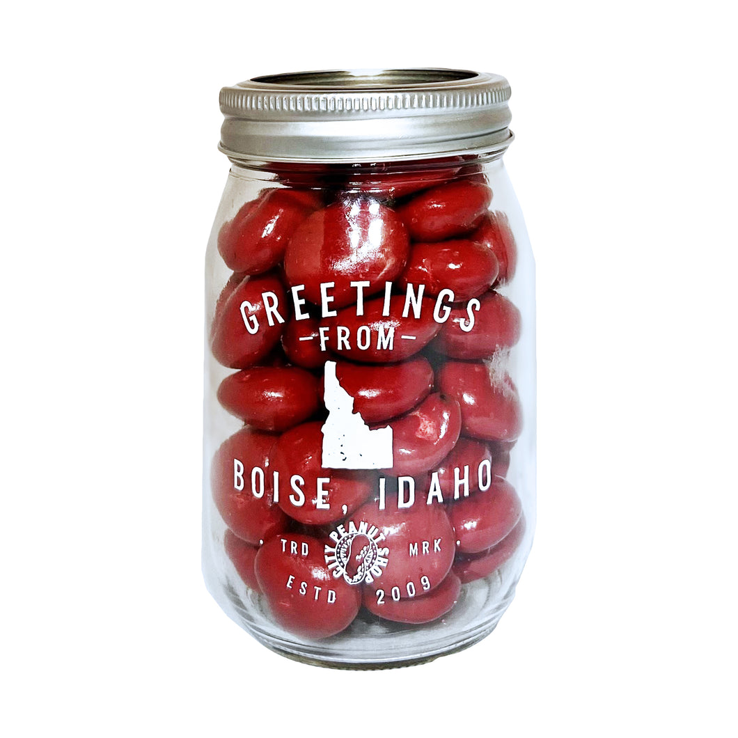 GREETINGS FROM BOISE IDAHO • CANNING JAR • LEKKER SWEETS
