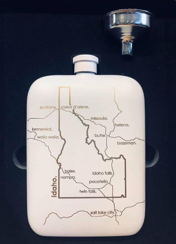 IDAHO • WHITE POCKET FLASK
