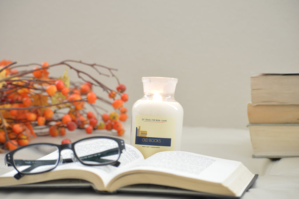 New Book Pages 4.5 oz Apothecary Literary Soy Candle for Readers