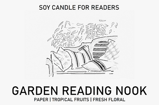 Garden Reading Nook 8.5 oz Apothecary Literary Soy Candle for Readers
