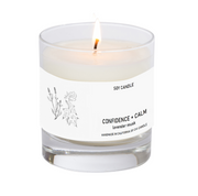Confidence + Calm Soy Candle 8 oz Tumbler.  Hand-sketched