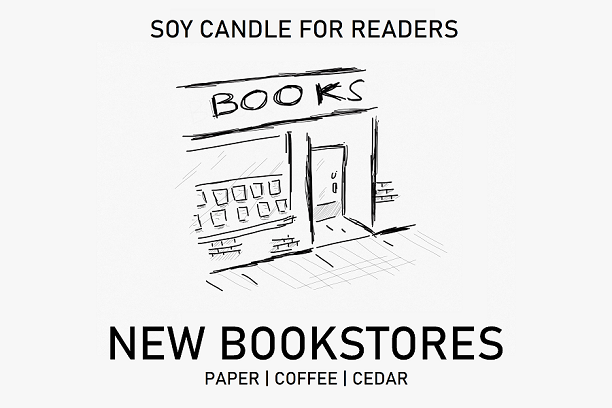 New Bookstores 8.5 oz Apothecary Literary Soy Candle for Readers