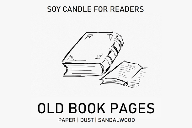 Old Book Pages 8.5 oz Apothecary Literary Soy Candle for Readers