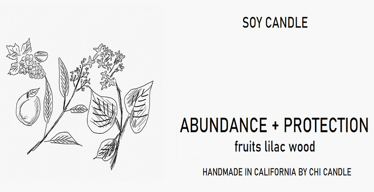 Abundance + Protection Soy Candle 8 oz Tumbler. Hand-sketched design.