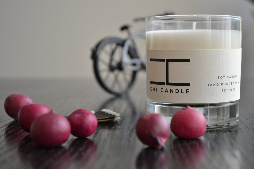 Tumbler 8 oz Soy Candle - Mediterranean Fig - Teakwood