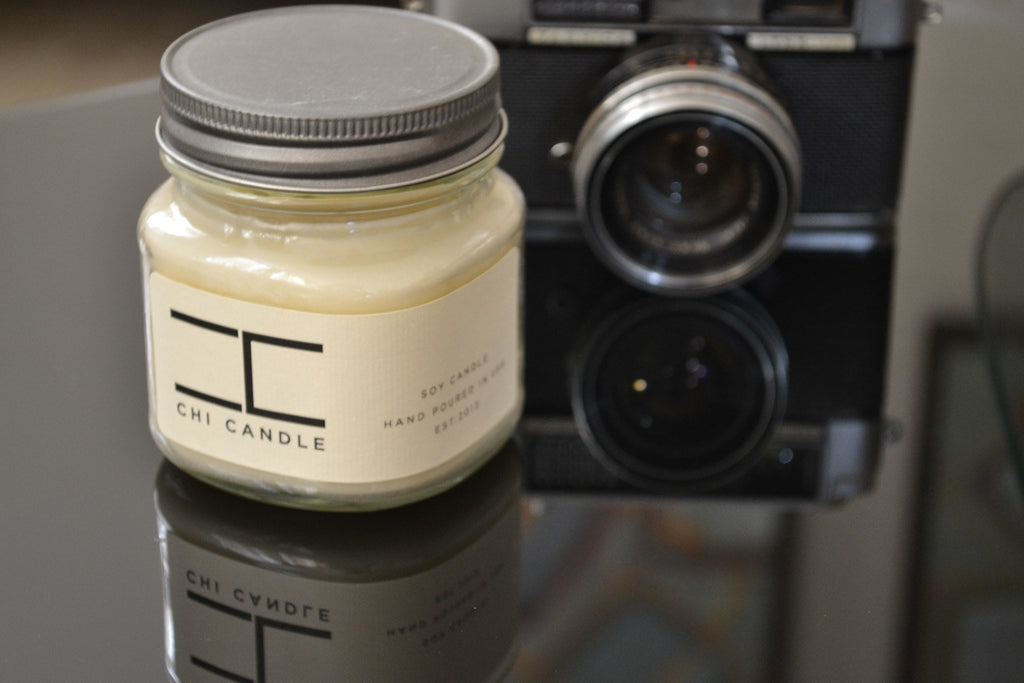 Mason Jar 8 Oz - Mason Jar 8 Oz Soy Candle - Bartlett Pear