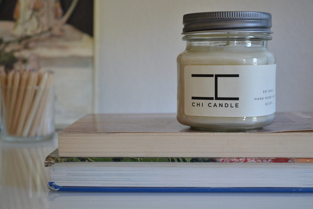 Mason Jar 8 Oz - Mason Jar 8 Oz Soy Candle - Fruit Slices