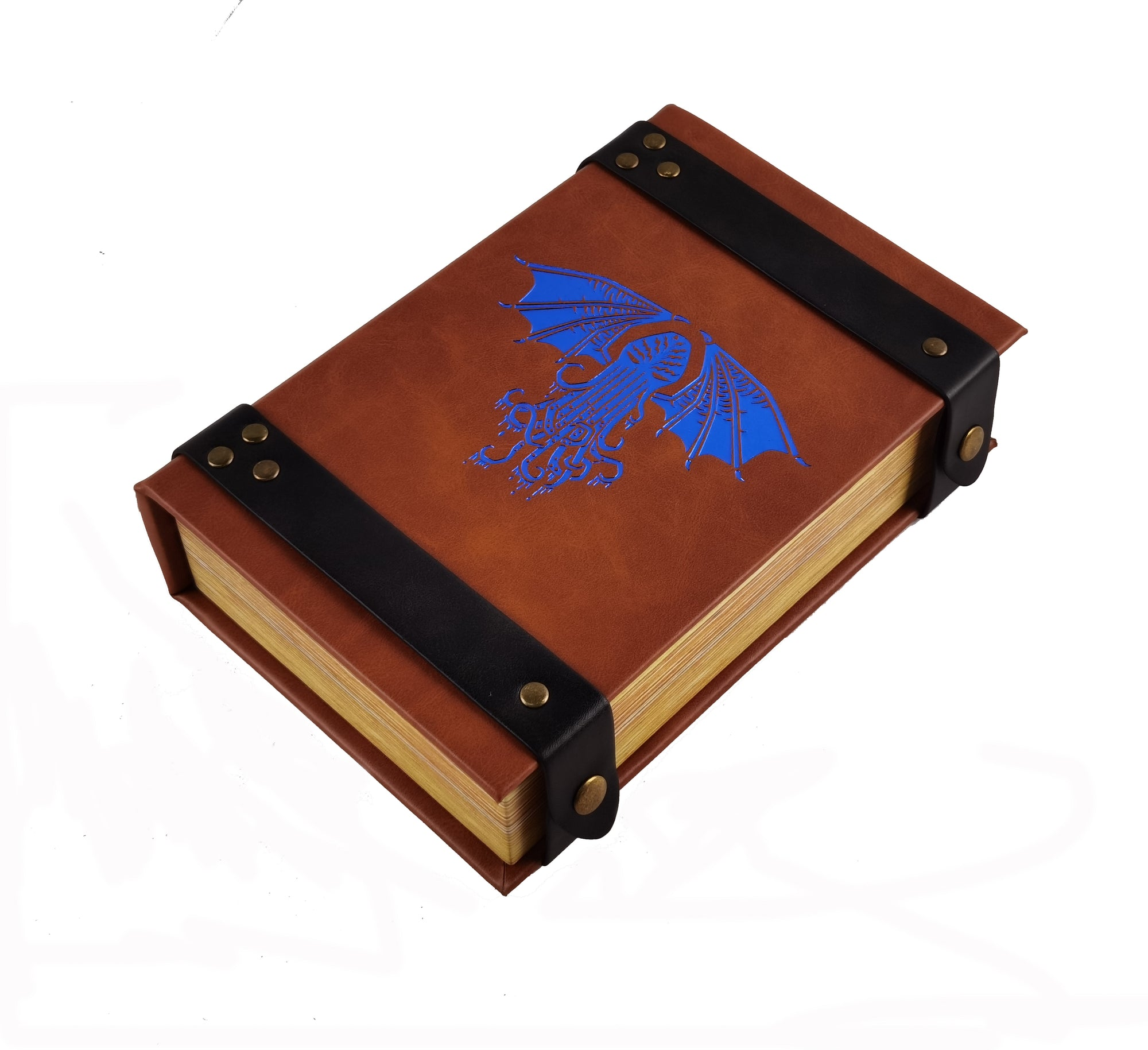 Fantasydice Book-Shaped Cthulhu Tome Blue Rolling Magic Book Tray for All Tabletop RPGs Like D/&D Call of Cthulhu Shadowrun.