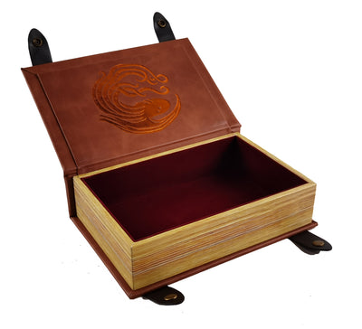 Cthulhu Book-Shaped Chromatic Blood Red Velvet Fire Rolling Magic Book Tray for All Tabletop RPGs Like D&D , Call of Cthulhu, Shadowrun.