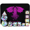 White Cthulhu Rainbow Color Metal Dice 11 Dice Set- Only Available in US