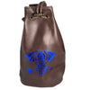 Fantasydice Brown/Blue Cthulhu Dice Bag With 4 Side Pockets And 1 Large Inner Pocket Fits More Than 250 Polyhedral Dice And With A Belt Attachment For Easy Carrying Dnd Dice For Dungeons And Dragons