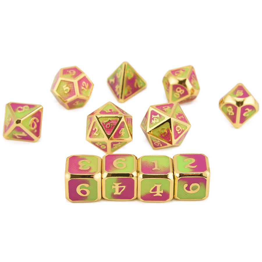 Cthulhu Curse Scale Armor Metal Dice Set(11 Dice Set)- Only Available in US