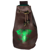 Fantasydice Brown/Green Cthulhu Dice Bag With 4 Side Pockets And 1 Large Inner Pocket Fits More Than 250 Polyhedral Dice And With A Belt Attachment For Easy Carrying Dnd Dice For Dungeons And Dragons
