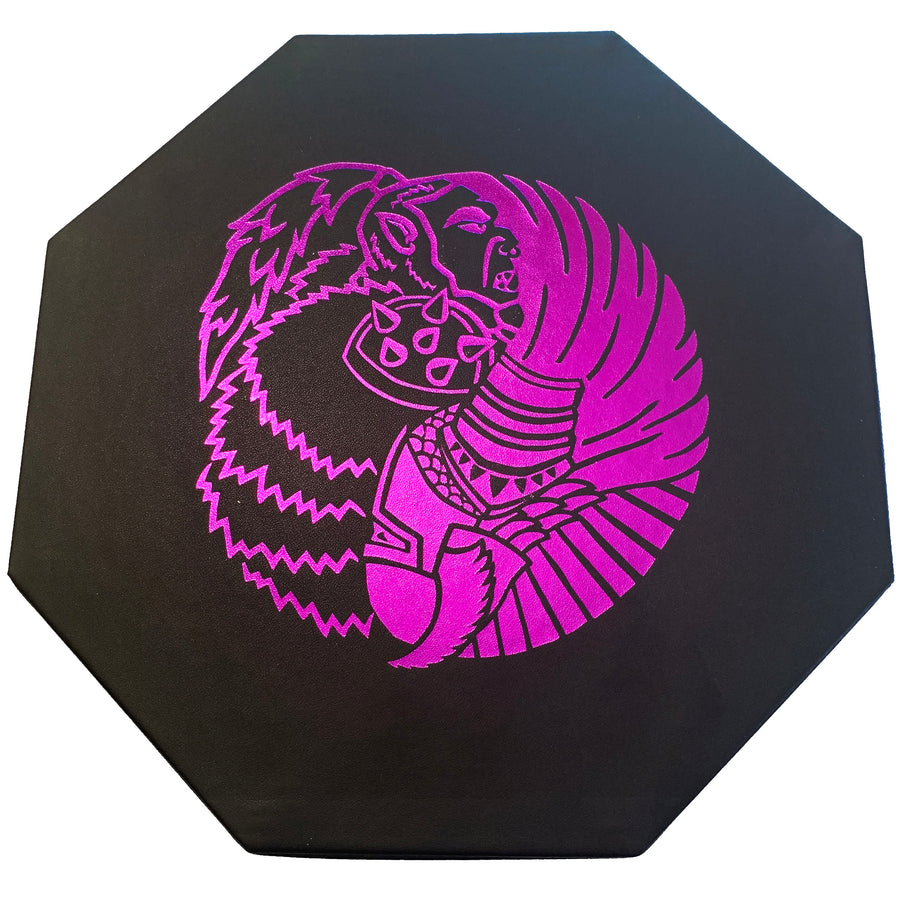 "Orc VS Paladin Yin And Yang Purple- Dice Storage And Rolling Tray - 8"" Octagon with Lid and Dice Staging Area- Holds 5 Sets(7 Dice Set/Standard) for All Tabletop RPGs"