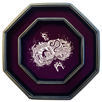 "Purple - Dice Tray - 8"" Octagon with Lid and Dice Staging Area"
