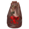 Fantasydice Brown/Red Cthulhu Dice Bag With 4 Side Pockets And 1 Large Inner Pocket Fits More Than 250 Polyhedral Dice And With A Belt Attachment For Easy Carrying Dnd Dice For Dungeons And Dragons