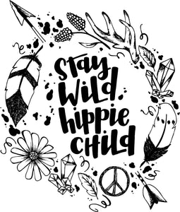 Stay Wild Hippie Child Adult Tee