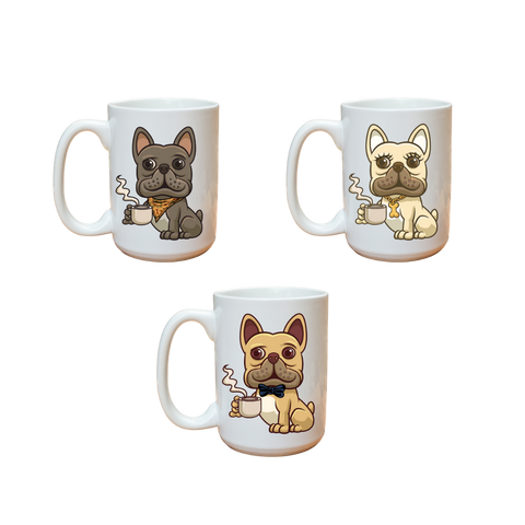 Frenchie Character Mug - Frenchie Coffee Roasters