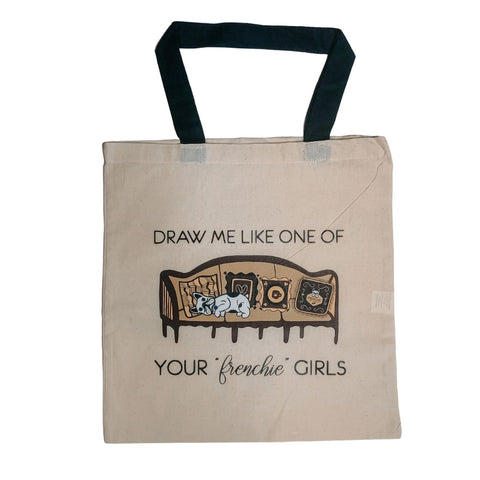Frenchie Girls Tote Bag