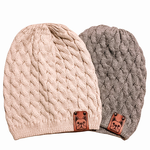 Cable Knit Beanie - Frenchie Coffee Roasters