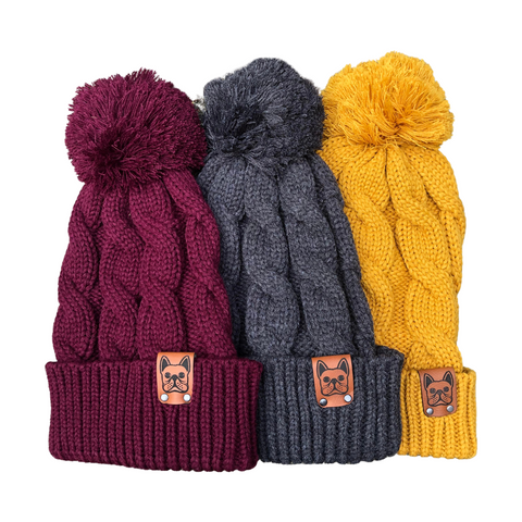 Chunky Pom Beanie - Frenchie Coffee Roasters