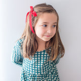 Red and Green Wendy Bow - Livie Loo's