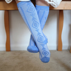 Heathered Blue Knee Socks