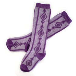 Heathered Plum Knee Socks