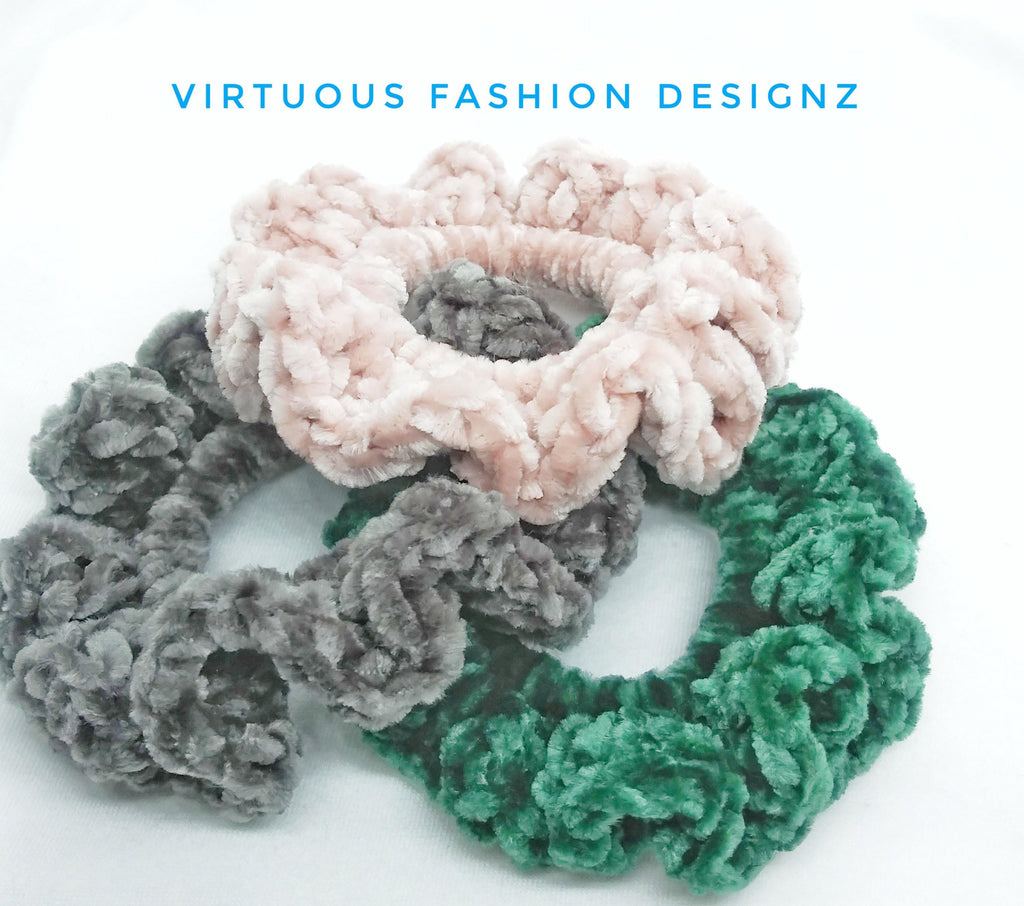 Crochet Scrunchies - Virtuous Fashion Designz/God's Truth Clothing